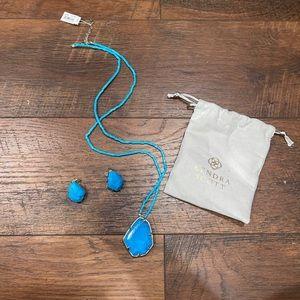 Kendra Scott Turquoise Blue Beatri Set